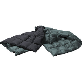 Yeti Duvet Packable Down Blanket 200x140cm, ash coal/british racing green
